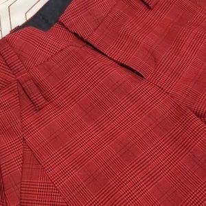 L.A.M.B red checkered trouser